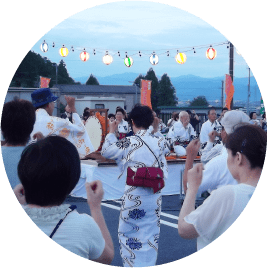 Bon-odori dancing
