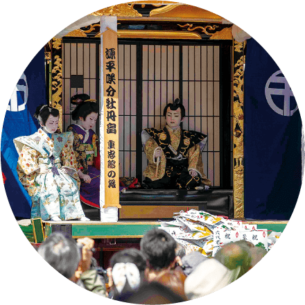 Kodomo Kabuki performed by children(Ibi Matsuri Festival)